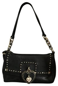 Juicy Couture Studded Chain Leather Crystal Charm Shoulder Bag
