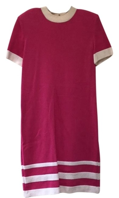 Item - Pink and White Vintage Boutique Mid-length Work/Office Dress Size 6 (S)