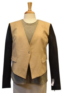 Robert Rodriguez Coat Leather Tan & Black Jacket
