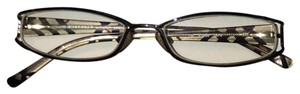 Burberry ladies reading glasses Burberry reading glasses in charcoal black check design.
