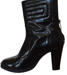 Aquatalia by Marvin K. Black Patent Leather Boots