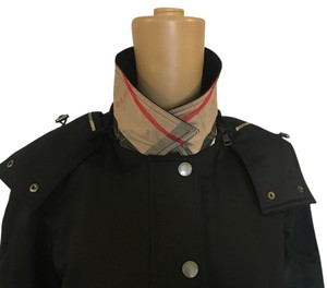 Burberry Brit convertible hooded coat size 8 Trench Coat
