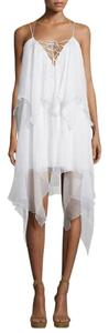 Haute Hippie short dress White Silk Flowy Twirl on Tradesy