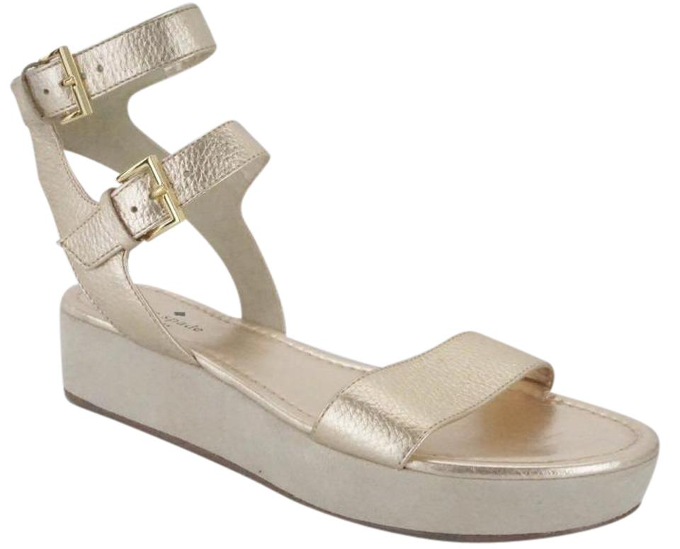 853cfd0803b Kate Spade 6121208 Sandal Metallic New York Sport Sandal Gold Wedges Image  0 ...