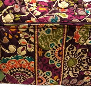 Vera Bradley plum crazy Travel Bag