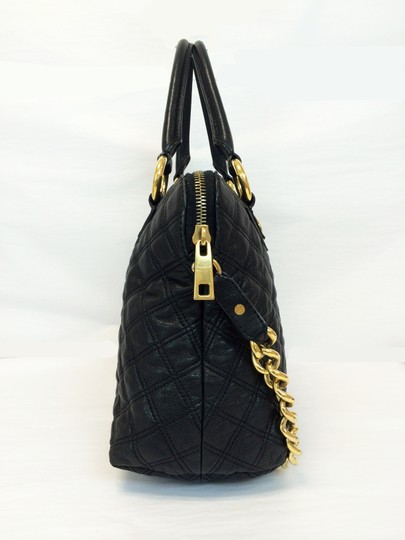 Marc Jacobs Quilted Standard Lambskin Leather Satchel in Black Image 2