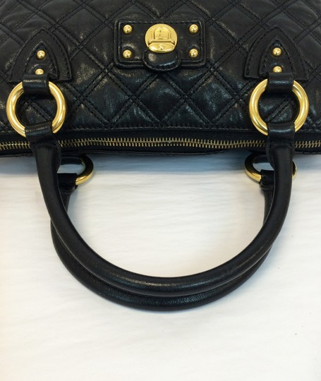 Marc Jacobs Quilted Standard Lambskin Leather Satchel in Black Image 5