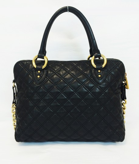 Marc Jacobs Quilted Standard Lambskin Leather Satchel in Black Image 9