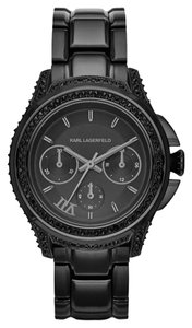 Karl Lagerfeld Karl Lagerfeld Klassic 7 Black Stainless Chronograph Glitz Womens Watch KL2405