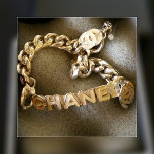 Chanel ID Bracelet with Logo and Curb Chain