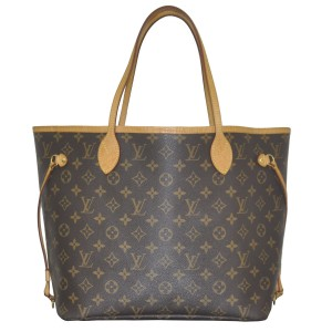 Louis Vuitton Neverfull Mm Monogram Handbag Tote in brown