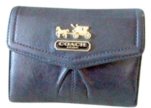 Coach Coach Madison Leather Clutch Wallet (Black and Pink)