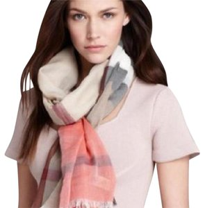 Burberry colour stripe half mega check scarf