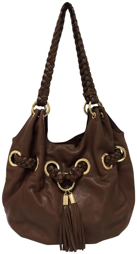 4a12312c25b677 MICHAEL Michael Kors Braided Grommet Large Tote in Walnut Brown Image 0 ...