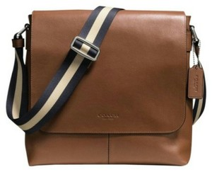 Coach Cross Body File Dark Saddle Messenger Bag