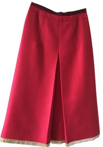 Prada Skirt Cardinal Red