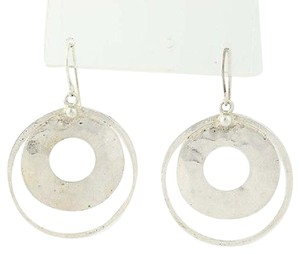 Silpada Silpada Perspectva Circle Earrings - Sterling Silver Discs Pierced W1322