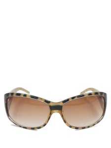 Jimmy Choo Jimmy Choo Gold Black Leopard Print Round Sunglasses