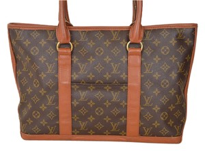 Louis Vuitton Sac Monogram Vintage Leather European Tote