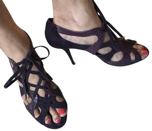 Kate Spade Strappy Lace-up Suede Purple Sandals