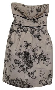 Teeze Me Strapless Floral Pockets Dress