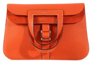 Hermès Gm Clemence Hr.k1101.03 Leather Convertible Cross Body Bag