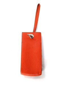Hermès Hermes Orange Leather Planet Phone Wristlet PHW