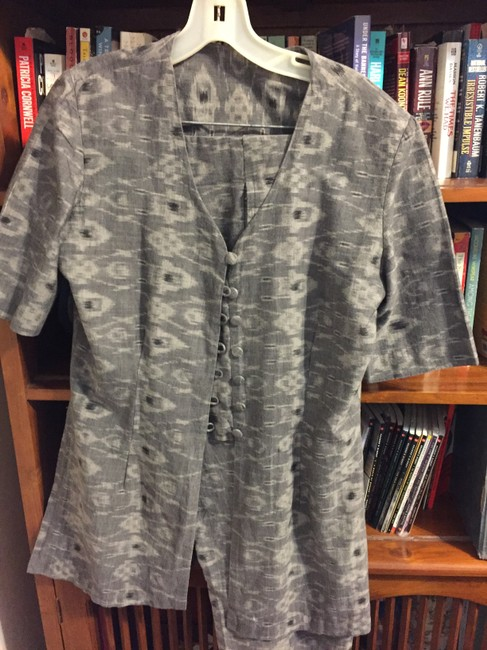Other GREY THREE PIECE PANT SUIT TWO JACKETS LINED SIZE 8 COTTON WAHSABLE Image 10