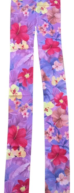 Item - Purple 2 New Pairs Of Floral From Hosiery