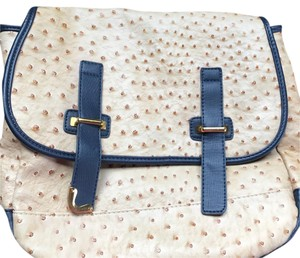 Nila Anthony beige, navy Messenger Bag