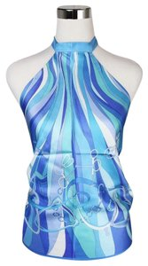Gucci Scarf Blue Halter Top