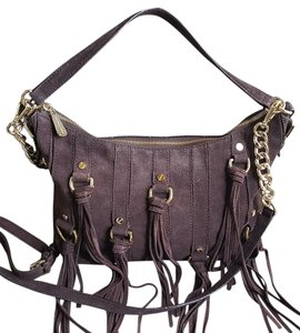 Michael Kors Mk Suede Fringed Shoulder Bag