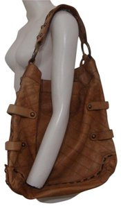 Isabella Fiore Studded Leather Magnetic Closure Embellished Xlarge Hobo Bag