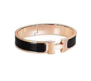 Hermès RARE Brand New Clic H PM Black with Rose Gold Hardware