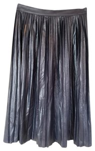 J.Crew Metallic Midi Skirt Blue