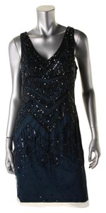 Adrianna Papell Mesh Embellished Dress
