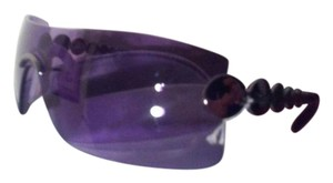 Dior Dior purple lense pewter frame sunglasses in case