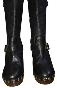 Jimmy Choo Black with gold hardware. Boots