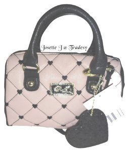 Betsey Johnson Mini Barrel Quilted Diamonds Cross Body Bag
