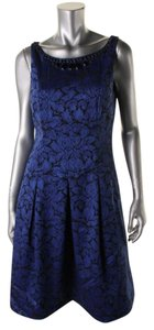 Adrianna Papell Jacquard Embellished Dress