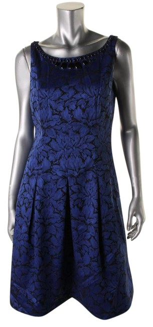 Preload https://img-static.tradesy.com/item/20511085/adrianna-papell-blue-womens-jacquard-embellished-party-short-cocktail-dress-size-10-m-0-1-650-650.jpg