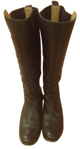 Frye Knee High Style No. 74163 Elastic Gore Leather/fabric Upper Foam-cushioned Black Boots