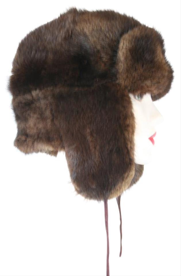ced8fe71 Other AUTHENTIC VINTAGE RUSSIAN USHANKA MUSKRAT MINK FUR COSSACK EARFLAP HAT  Image 0 ...