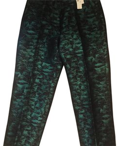 J.Crew Trouser Pants black and green sheen