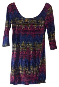 short dress Black Vintage Aztec Pencil on Tradesy