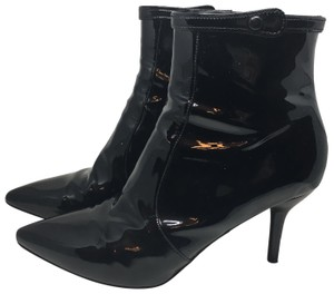 Via Spiga Black Patent Leather Boots