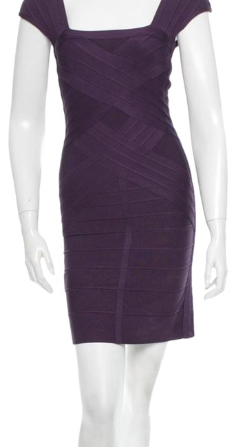 Item - Purple Like New Mid-length Night Out Dress Size 10 (M)