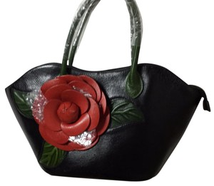Pijushi New Large Genuine Leather Satchel in black, red, green