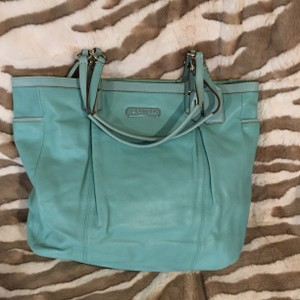 Coach Tote in Tiffany blue
