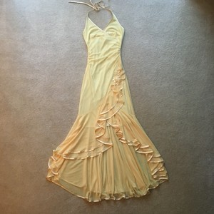 City Triangles Creamy Yellow Creamy Yellow Hi-lo Halter Dress City Triangles Sz. S Dress